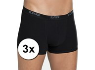 3x zwarte Sloggi basic shorty boxershorts heren